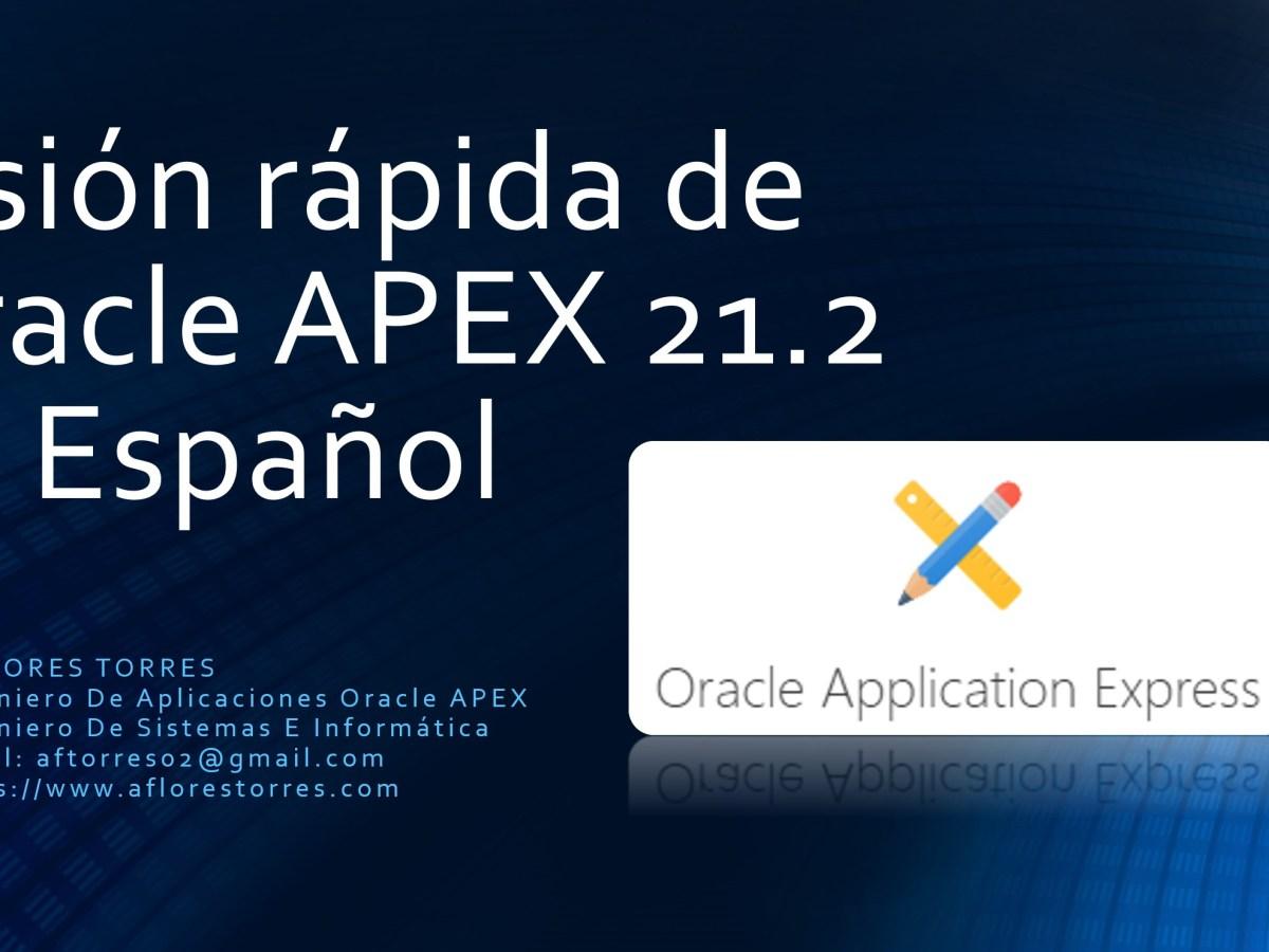 APEX 21.2